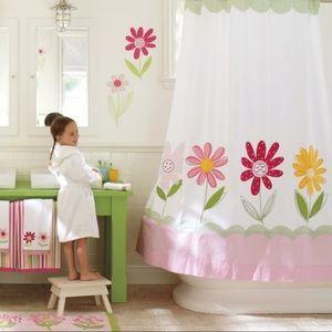 PB Kids Daisy Garden Appliqué Shower Curtain